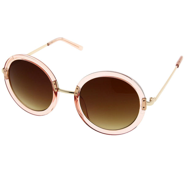 Women's Large Designer Inspired Cute Fashion Round Circle Sunglasses Sunnies - grinderPUNCH
