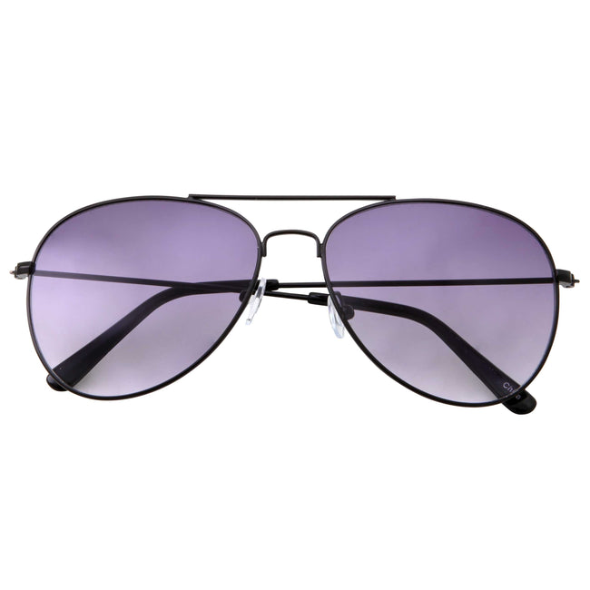 Oversize Classic Retro Metal Aviator Sunglasses