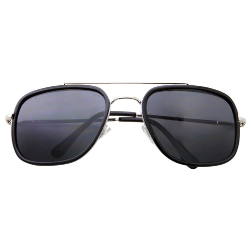 Dapper Mens Crossbar Square Fashion Sunglasses - grinderPUNCH