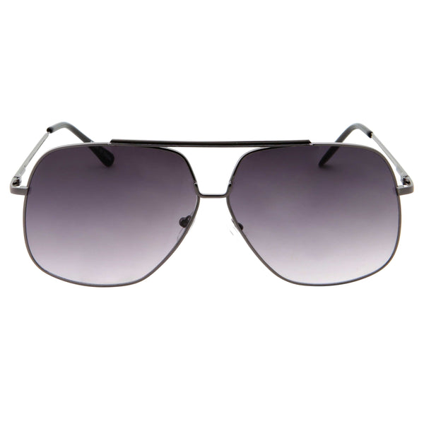 Mens Fashion Go Square Metal Aviator Sunglasses - grinderPUNCH