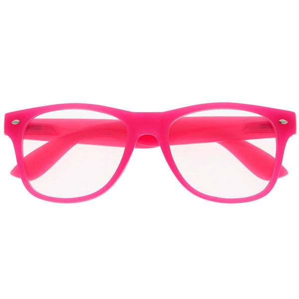 Neon Jelly Colored Clear Lens Sunglasses - grinderPUNCH