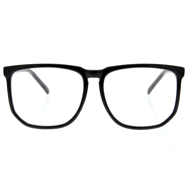 Oversized Large Square Frame Clear Lens Sunglasses Fashion Thin Frame Geek Nerd - grinderPUNCH