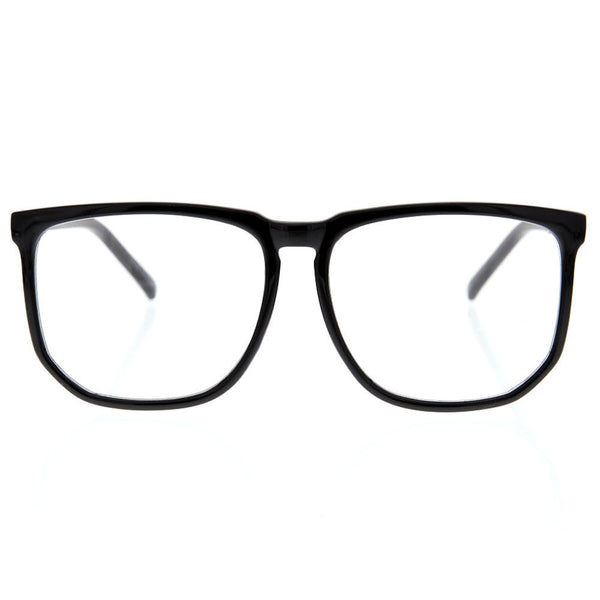 Oversized Large Square Frame Clear Lens Sunglasses Fashion Thin Frame Geek Nerd