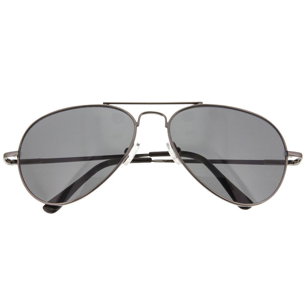 Smoke Lens Aviator Classic Sunglasses Teardrop Metal Vintage Top Sunnies - grinderPUNCH