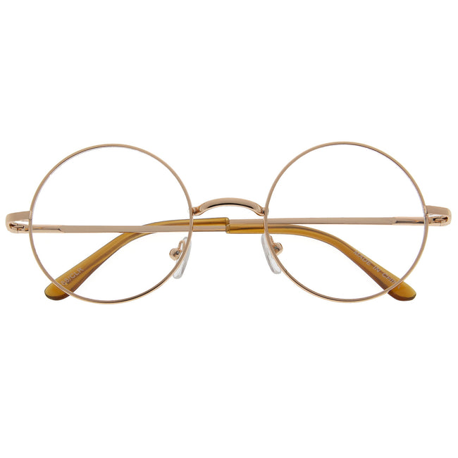 Vintage Inspired Round Clear Lens Glasses - grinderPUNCH