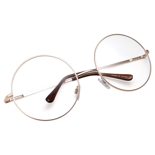 Super Oversized Round Clear Lens Glasses - grinderPUNCH