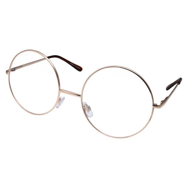Super Oversized Round Clear Lens Glasses
