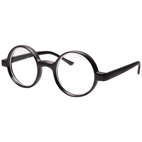 Round Wizard Clear Lens Glasses Great for Cosplay - grinderPUNCH