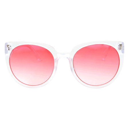 Women's Cute Fashion Large Designer Inspired Round Circle Sunglasses