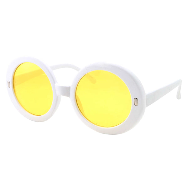 Women's Oversized Round Color Lens Sunglasses - grinderPUNCH