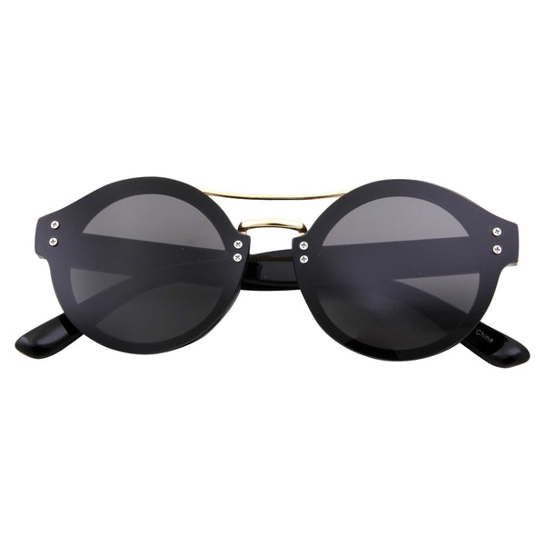 Round Lens Retro Inspired Sunglasses - grinderPUNCH