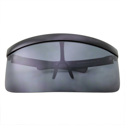 Retro Oversize Flat Top Shield Protection Visor - grinderPUNCH
