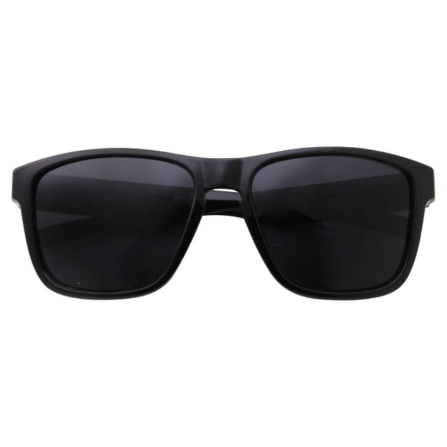 Mens Wide Frame Active Square Dark Sunglasses - grinderPUNCH