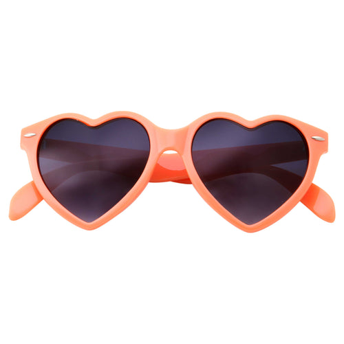 Womens Cute Sweet Heart Shape Sunglasses - grinderPUNCH
