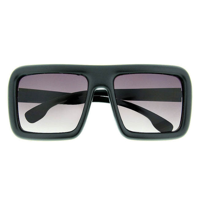 Oversized Thick Frame Square Sunglasses Block Nerd Geek Trendy Fashion Rounded - grinderPUNCH