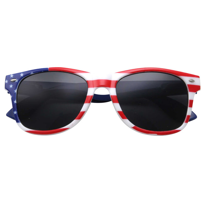 Broad Stripes American Flag Sunglasses - grinderPUNCH
