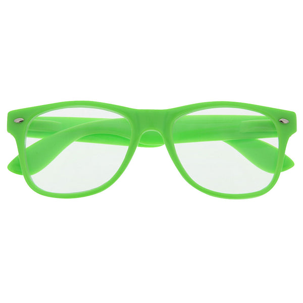 Clear Lens Party Novelty Sunglasses - grinderPUNCH