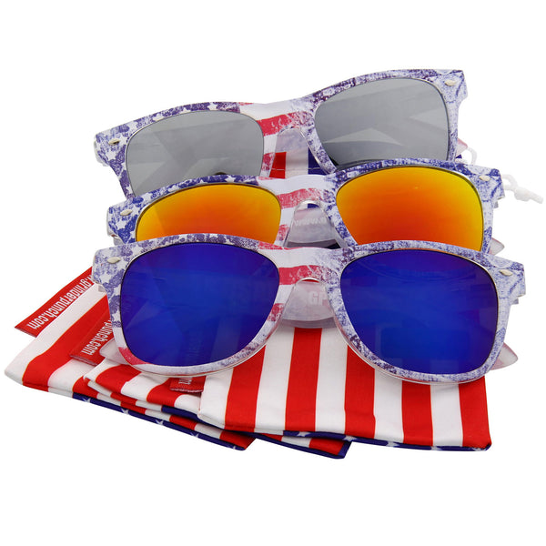 Arctic Denim American Flag Sunglasses Bundle - grinderPUNCH