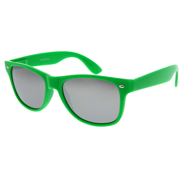 Neon Party Mirrored Sunglasses - grinderPUNCH