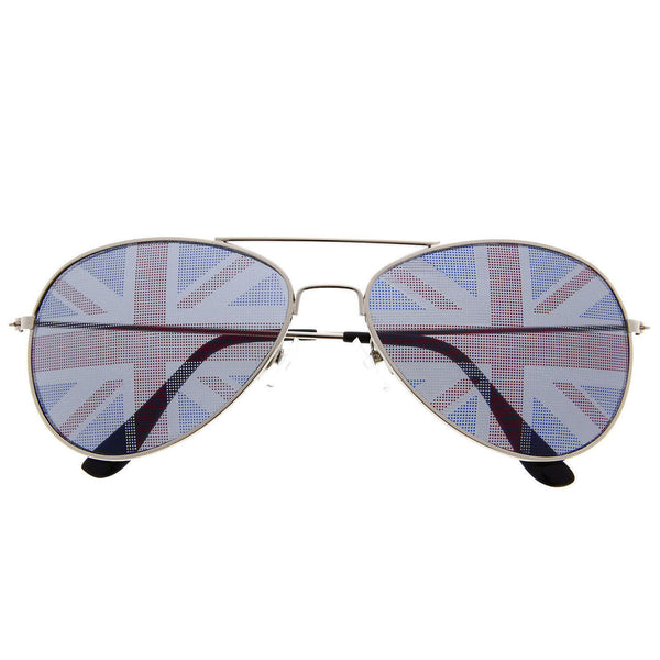 British Flag Novelty Aviator Sunglasses - grinderPUNCH