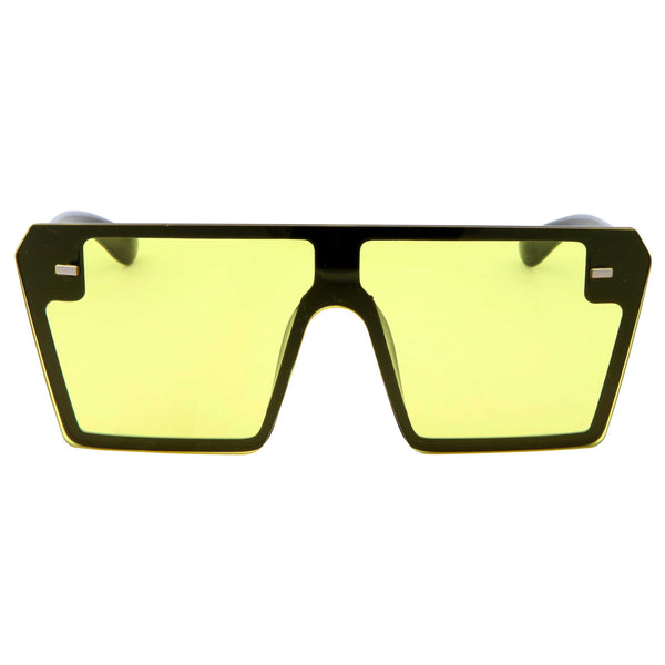 Womens Modern Oversize Color Tone Square Sunglasses - grinderPUNCH