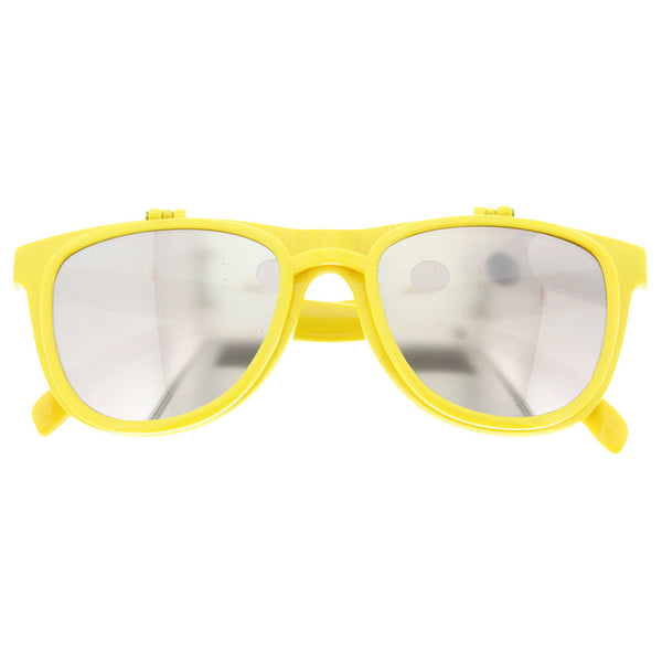 Flip Mirrored and Clear Party Sunglasses - grinderPUNCH