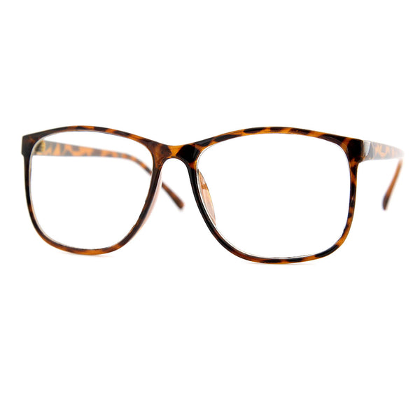 "Large Size Thin Frame Geek ""Smart Hot"" Glasses - grinderPUNCH"