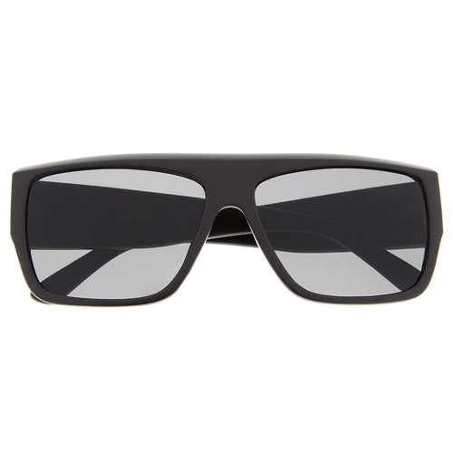 Mens Thick Flat Top Sunglasses Biker Shades Fashion Style Rapper Hardcore Square - grinderPUNCH