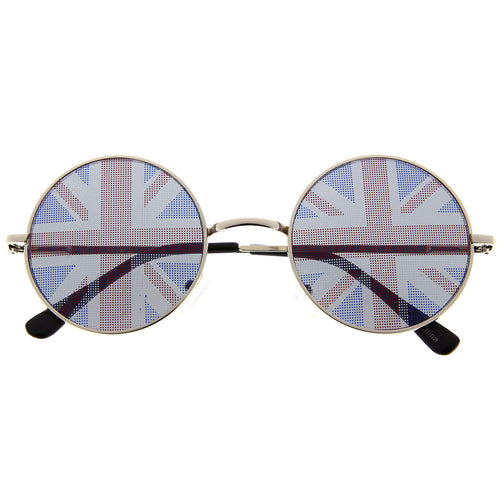 British Flag Novelty Round Sunglasses - grinderPUNCH