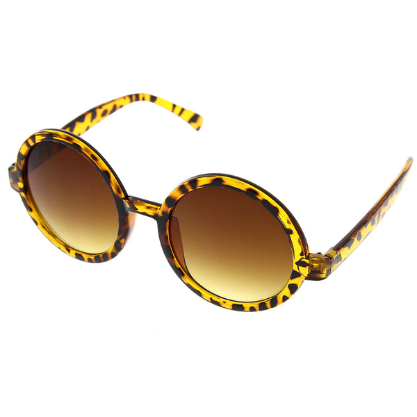 Women's Cute Fashion Large Designer Inspired Round Circle Sunglasses - grinderPUNCH
