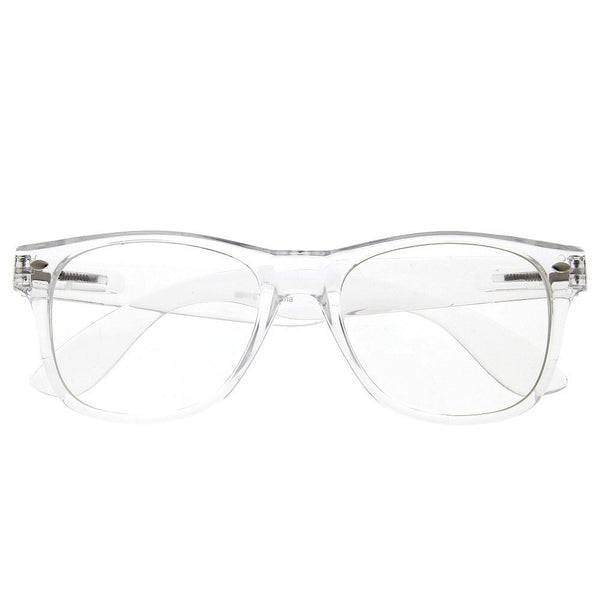 Crystal Clear Frame Classic Sunglasses - grinderPUNCH