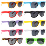 grinderPUNCH 10 Pack 80's Classic Neon Color Sunglasses - grinderPUNCH