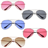 Summer Aviator Color Lens Fashion Sunglasses - grinderPUNCH