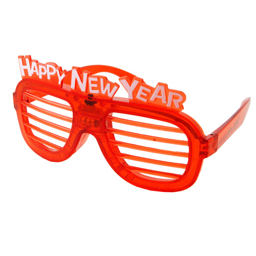 64319519f1 2019 Happy New Year LED Light Flashing Shutter Shade Sunglasses -  grinderPUNCH