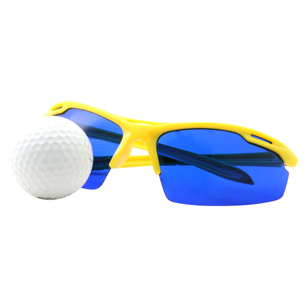 Mens Action Sports Golf Ball Finder Rectangle Sunglasses - grinderPUNCH