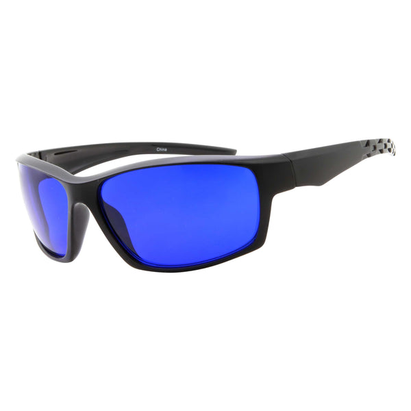 Mens Active Sports Golf Ball Finder Semi Rimless Sunglasses - grinderPUNCH