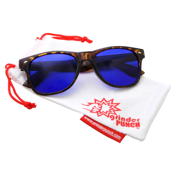 Mens Sports Blue Lens Golf Ball Finder Sunglasses - grinderPUNCH