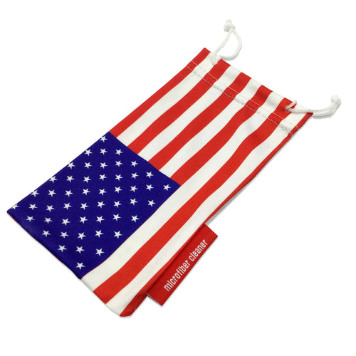 American Flag Microfiber Sunglasses Cleaning Pouch - grinderPUNCH