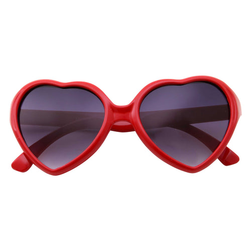 Cute Womens Lolita Heart Shape Sunglasses - grinderPUNCH