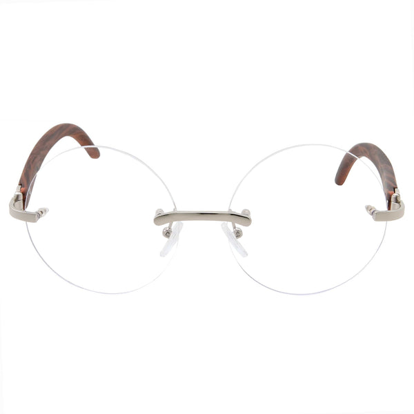 Womens Rimless Retro Clear Lens Glasses - grinderPUNCH