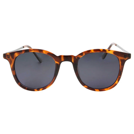 Oversized Leopard Print Flat Top Sunglasses