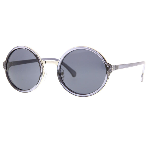 Vintage Steampunk Inspired Round Sunglasses - grinderPUNCH