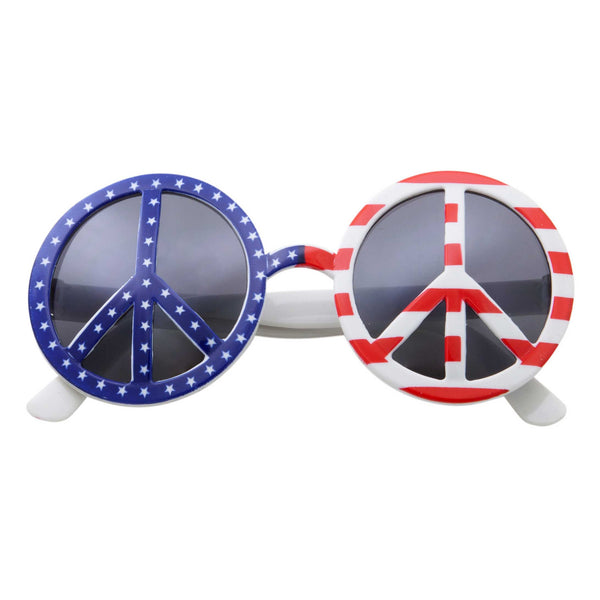 US American Peace Party Round Sunglasses - grinderPUNCH