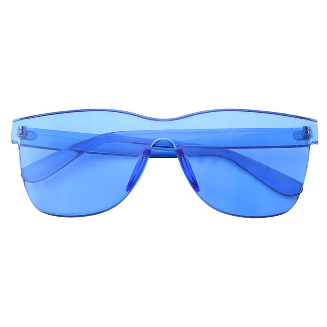 Womens Oversize Transparent Color Tone Sunglasses