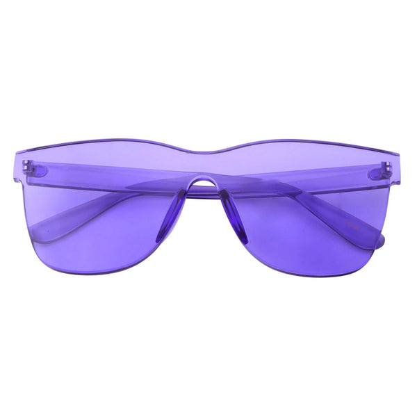 Womens Oversize Transparent Color Tone Sunglasses - grinderPUNCH