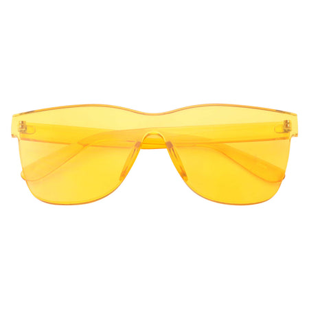 Womens Modern Oversize Color Tone Square Sunglasses