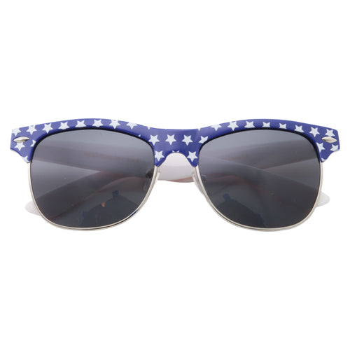 Vintage Brow Line Classic American Flag Sunglasses - grinderPUNCH