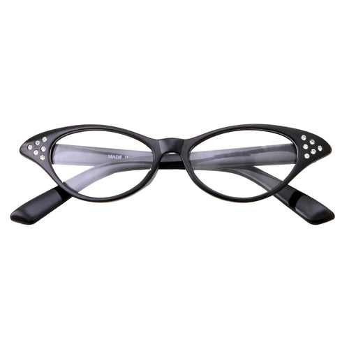 Kids Retro Vintage Cat Eye Clear Lens Costume Glasses