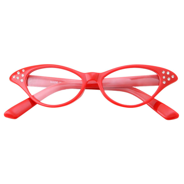 Kids Retro Vintage Cat Eye Clear Lens Costume Glasses - grinderPUNCH