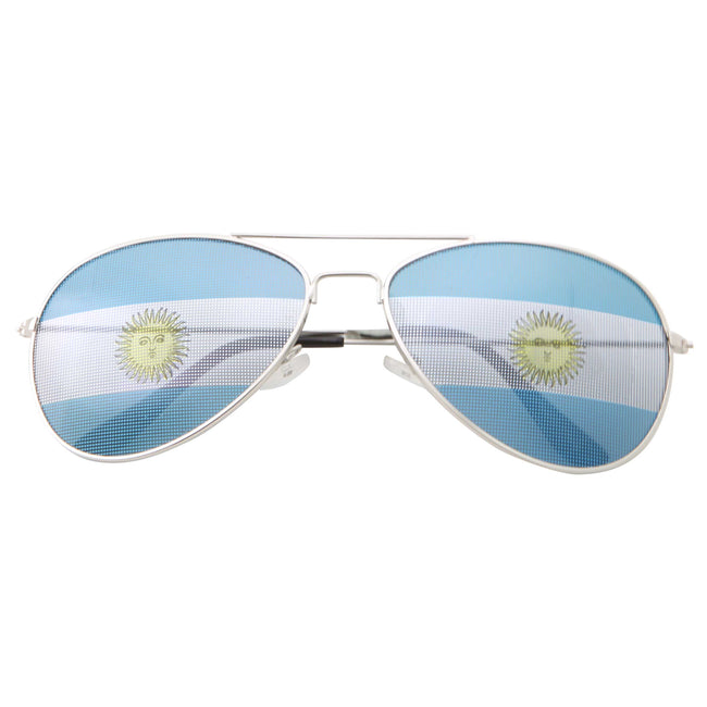 Brazil Argentina Flag Soccer Football Novelty Sunglasses - grinderPUNCH